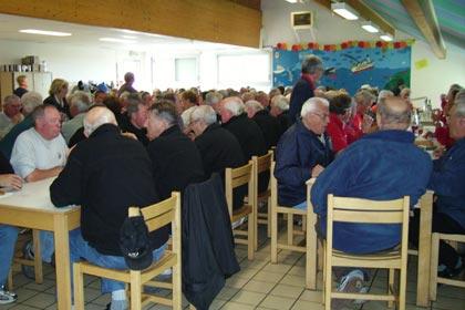 Repas des vétérans pétanqueurs à l'ASPTT Lorient
