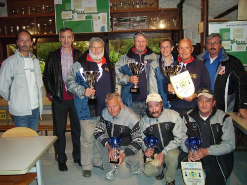 Les champions et finalistes vétérans à kerfléau en 2007