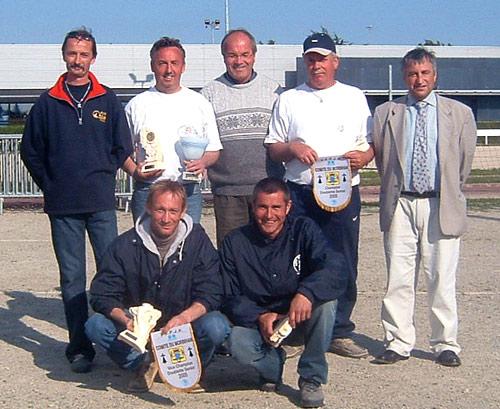 Récompenses du championnat doublette 2005 à kerlébert
