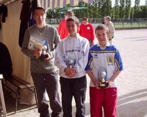 les champions de pétanque junior à Vannes kercado