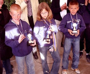 Nos champions de pétanque minime de l'ASPTT Vannes