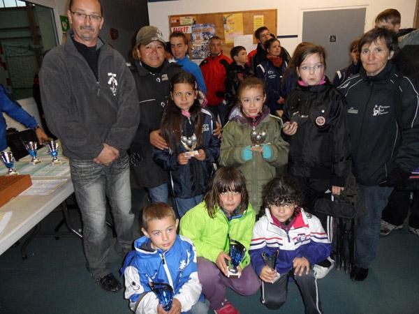 Les minimes récompensés au championnat de pétanque 2013