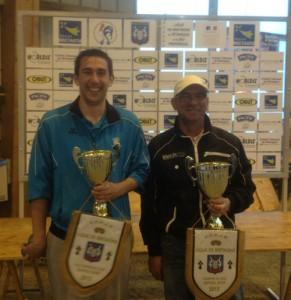 Benjamin Savé et Stéphane Vergoz, les champions de pétanque 2013