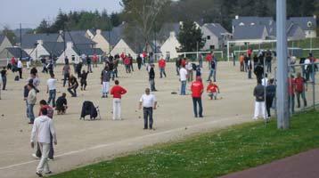 Le terrain stabilisé sur lequel la majeur partie des poules et des 64ème de finale avaient lieu.