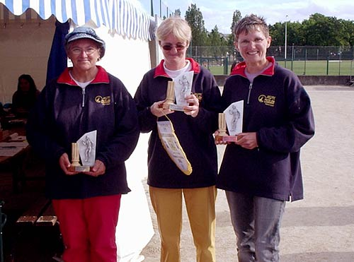 Les championnes du Morbihan de pétanque de l'ASPTT Lorient