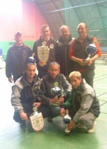 Vainqueurs et finalistes du championnat triplette de pétanque