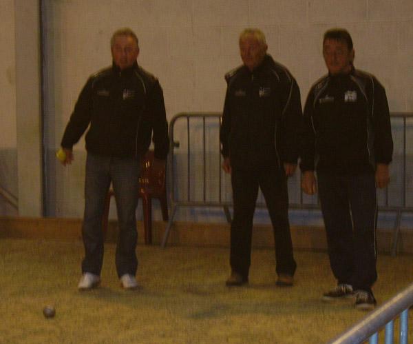 La triplette du Petanque Club Ploerinois a Cleder.