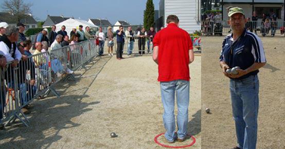 Quart de finale de petanque TaT 2007 en Queven