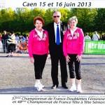 Les championnes du Morbihan de petanque 2013 a Caen