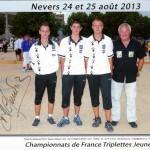 Nos trois jeunes morbihannais au France junior 2013 de Nevers