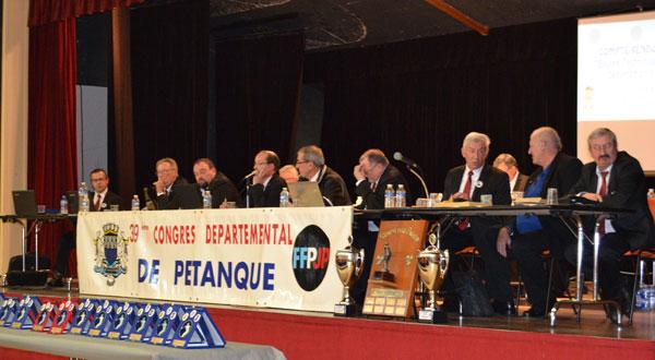 Les membres du CD56 lors de ce congres 2013