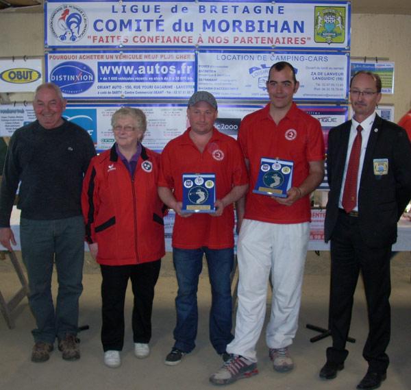 Finalistes du championnat de petanque doublette 2014