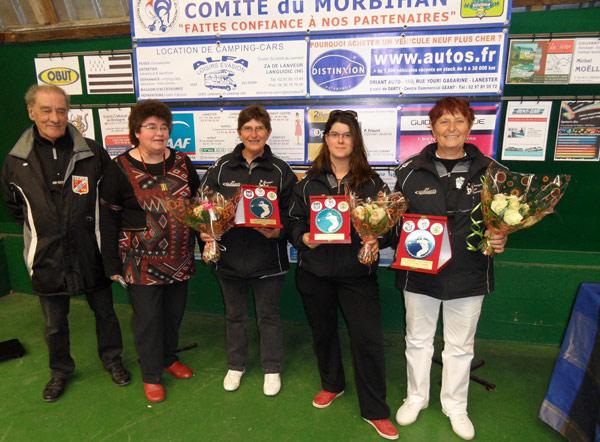 Les finalistes du club de Ploeren Petanque