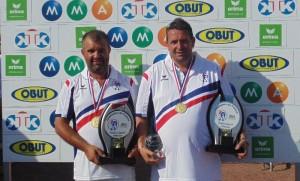 Lacroix et LeBoursicaud champion de france de petanque doublette ffpjp