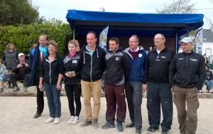Finale championnat doublette mixte petanque quiberon