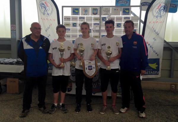 champions de bretagne junior 2015 petanque