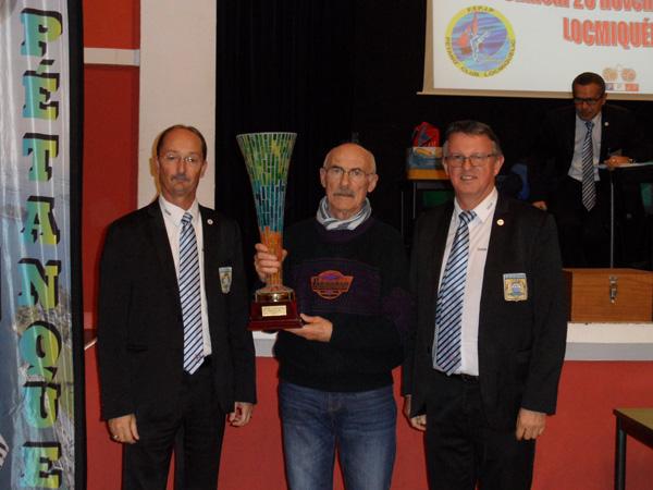 Remise de la coupe du Morbihan 2015 de petanque