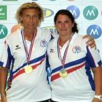 Les championnes de France de petanque doublette 2015 Papon et Bandiera