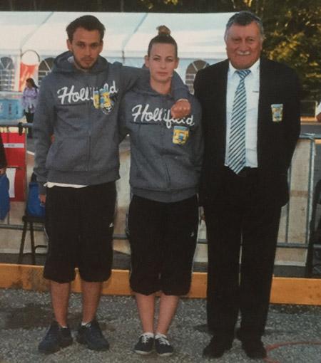 Nicolas Millet et Morgane Bourdin avec Andre Morice