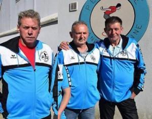 triplette victoire en championnat de petanque promotion du CD56