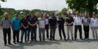 finalistes championnat de bretagne de petanque promotion à montfort : équipes Landoas et Demestre