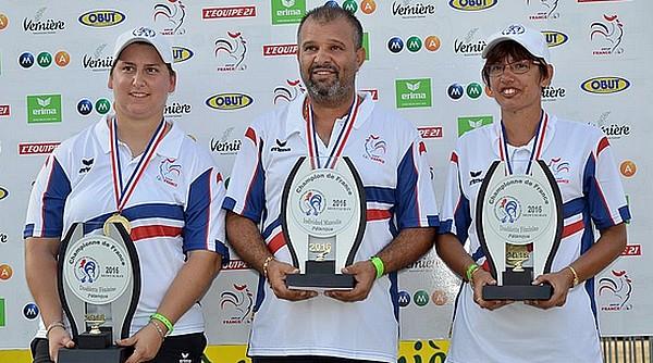 Championnes et champion de France de pétanque 2016 à Montauban