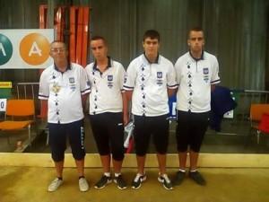 Champions de Bretagne Varennes sur Allier au France Junior de pétanque