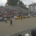 Tribune du championnat de France de pétanque à Montauban en TaT