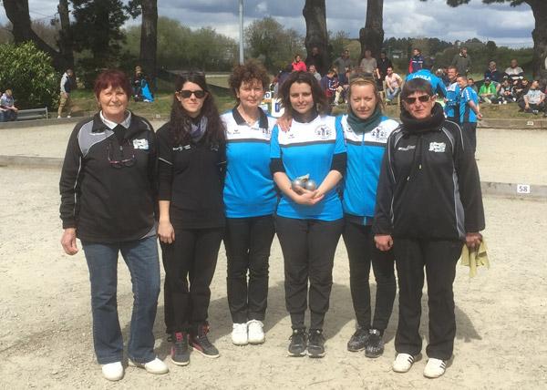 Demi-finale Ploeren - Lanester lors de ce championnat féminin à luscanen