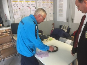 controle de boule par le délégué du comité