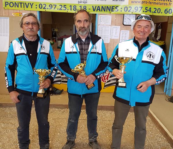 Les finalistes vétéran du club de Lanester lors de cette édition 2017