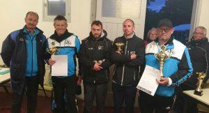 finalistes et champions du morbihan de petanque 2017 à Penestin