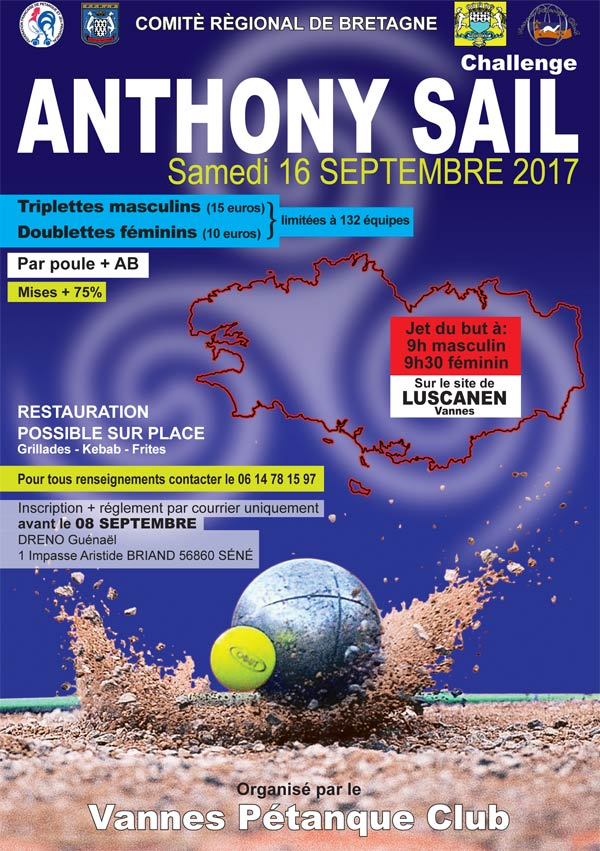 Affiche du Grand Prix Anthony Sail à Vannes
