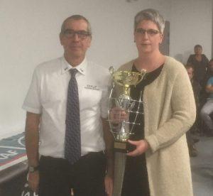Morgane Cadet pour l'ASPTT Vannes club champion CDCF1 en 2017