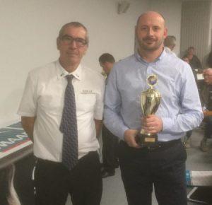 Stephane Cadet pour l'ASPTT Vannes meilleur club jeune de petanque