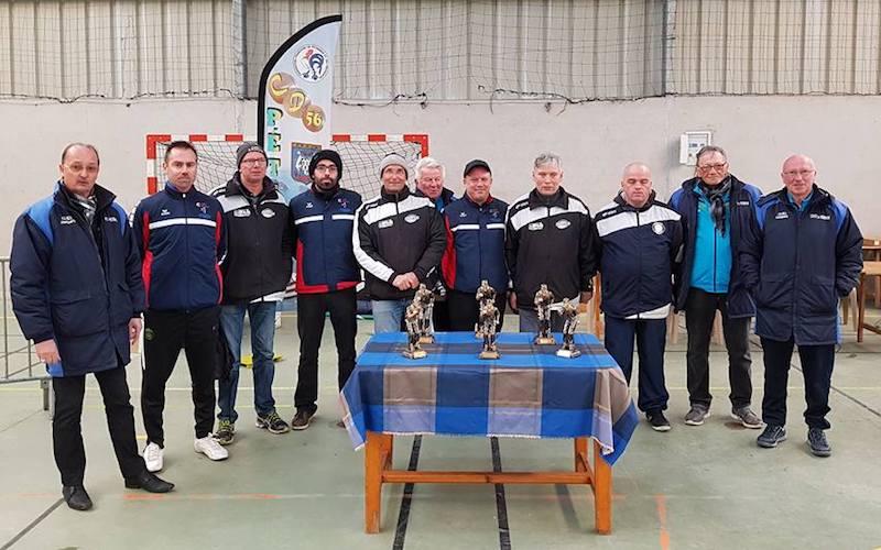 Réecompenses du championnat du morbihan 2018 de pétanque en triplette promotion