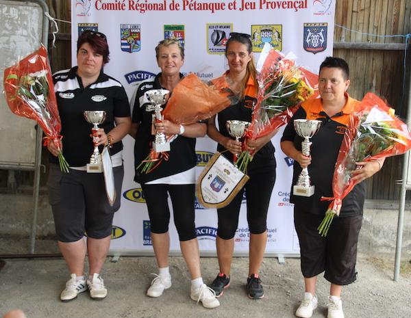 vice-championnes et championnes de bretagne doublette 2018