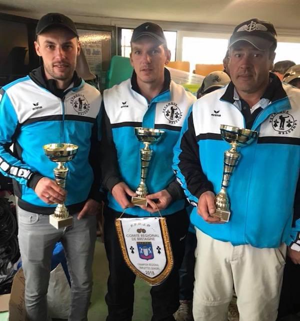 champions de Bretagne triplette 2018 à Quiberon