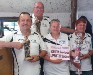 vainqueurs des championnats en doublette véyéran 2018