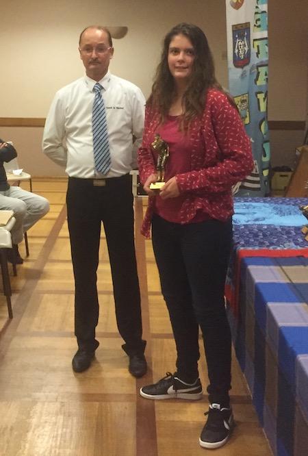 Camille Mesmin meilleure cadette pétanque du Morbihan en 2018