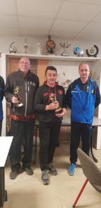 Jean Luc Coyac avec Thierry Bourdoulous lors du premier championnat tat vétéran du Morbihan