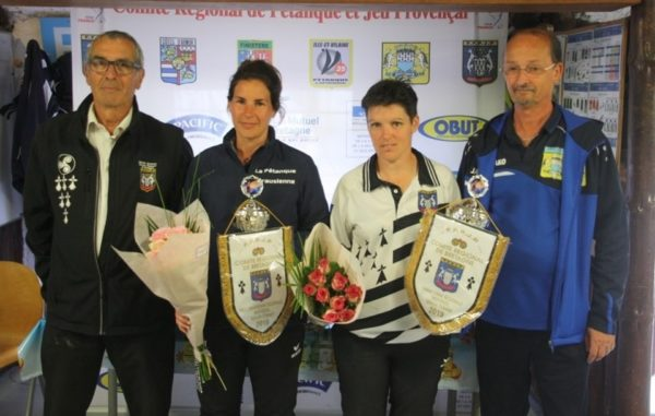 Sandrine Bissonnier et Daisy Frigara au championnat de Bretagne en individuel féminin à Caudan en 2019
