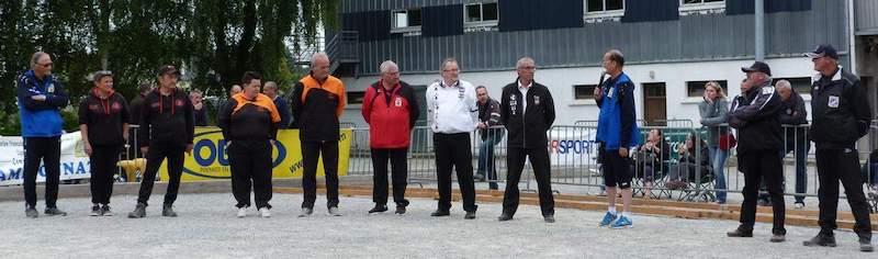 Présentation des officiels et finalistes du championnat de Bretgane mixte à kerfleau