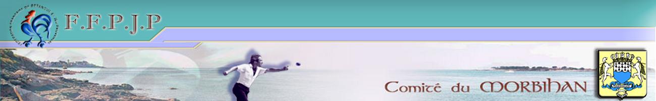Joueur lançant une boule de pétanque sur paysage du Morbihan