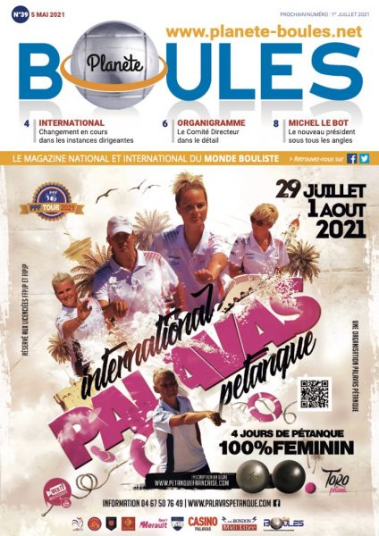 Magazine Planète Boules Mai 2021 sur la pétanque et le jeu provençal