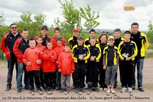 Championnat des clubs de jeunes de pétanque entre St Jean Villenard et Mauron