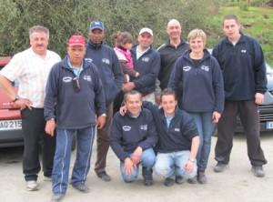 L'équipe de l'ASPTT Lorient Pétanque lors du CRC 2011