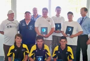 Champions du Morbihan de pétanque en triplette junior 2011