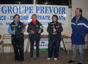 Championnes du Morbihan de pétanque 2011 en triplette féminine
