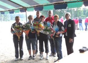 Récompenses du championnat de pétanque vétéran féminin